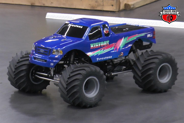 Bigfoot Pink Teal Pro Mod Trigger King R C Monster Trucks